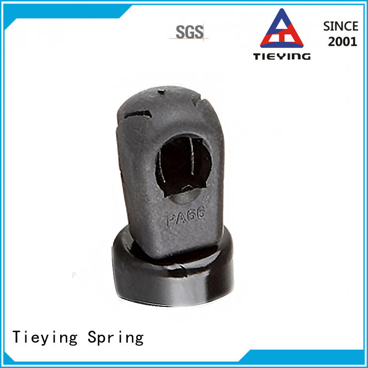 adjustable gas spring mounting bracket for automobile vehicles